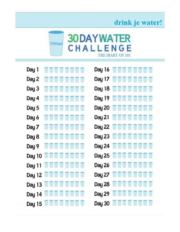 water drinken voor slapen